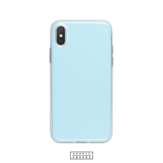 competitive price 6810e 3a2ae Pastel Blue iPhone Case Matte Gloss iPhone X Case iPhone Shell iPhone 8  iPhone 7 iPhone 6s iPhone PLUS Samsung Galaxy S8 S7 S8 Samsung Edge