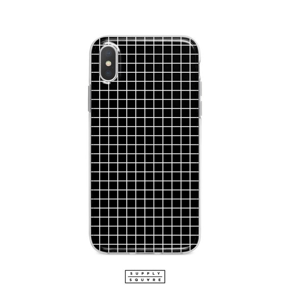 wholesale dealer 2632c 94e68 iPhone X Case White And Black Grid Minimalist Phone Case Checks Grid iPhone  8 Case Samsung s8 s7 Matte Gloss Shell Case Made To Order 7 Plus