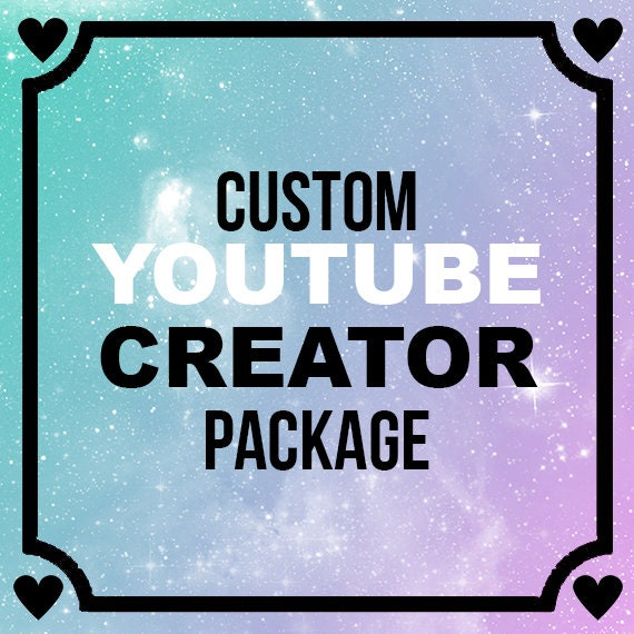 Cotton Candy Galaxy YouTube Creator Package