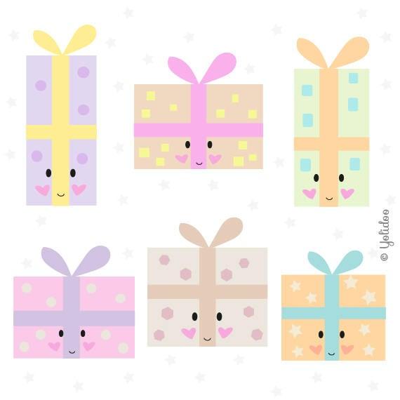 Birthday Gift Clipart Kawaii Present