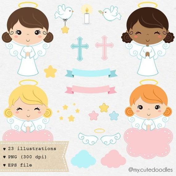 Engel Clipart Clipart Taufe Taufe Einladung Niedliche Engel Mädchen Baby Dusche Heilige Geister Rosa Und Weiße Engel C005