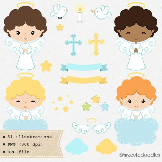 Angel Clipart Taufe Clipart Engelchen Taufe Babyparty Laden Engel Baby Junge Taufe Blau Und Weiß C027