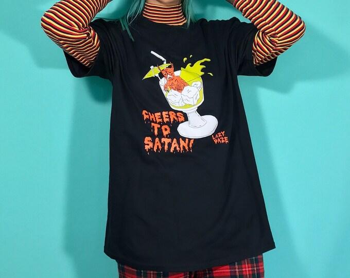 Neckface X Lazydaze Cheers to Satan T Shirt