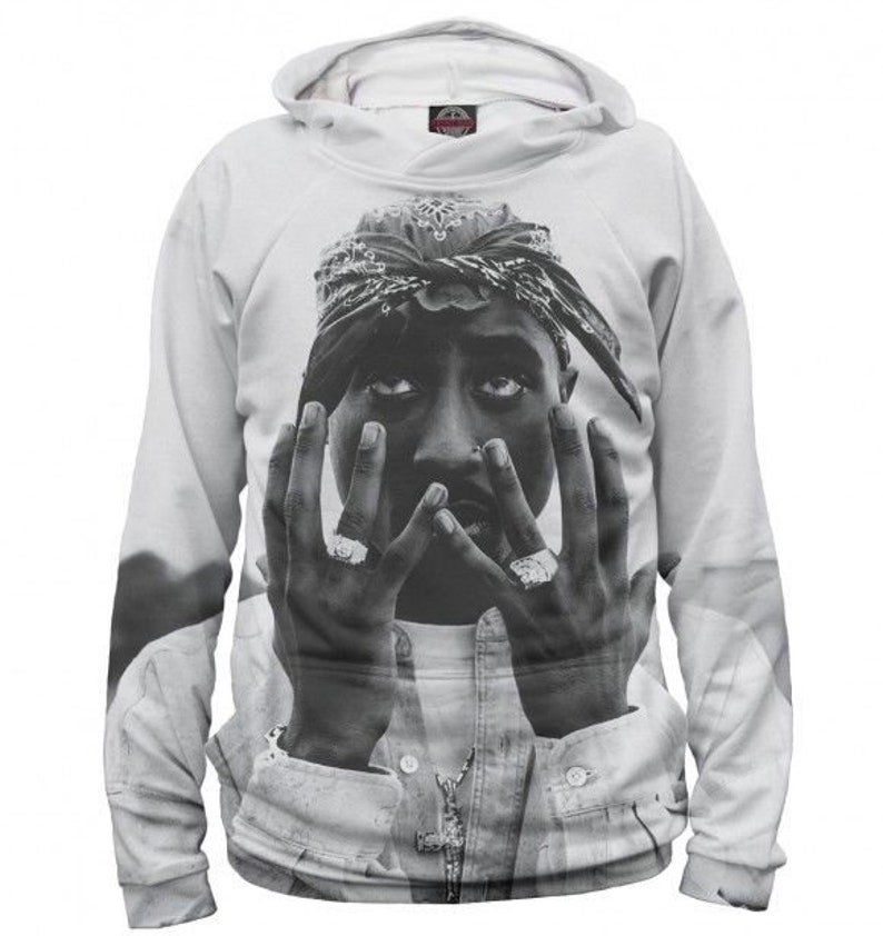 Tupac Shakur-2Pac vocal Makaveli RAP 100/% microfiber Men/'s Hoodie size L Russia Russian USSR Soviet Union full print Hoodies Sweatshirt
