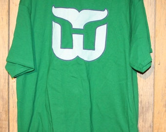 4238595e721 Vintage Hartford Whalers NHL Hockey Green T-Shirt Adult Size 2XL XXL +