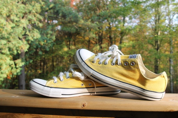 Vintage Converse All Star Yellow Low Cut Shoes Men