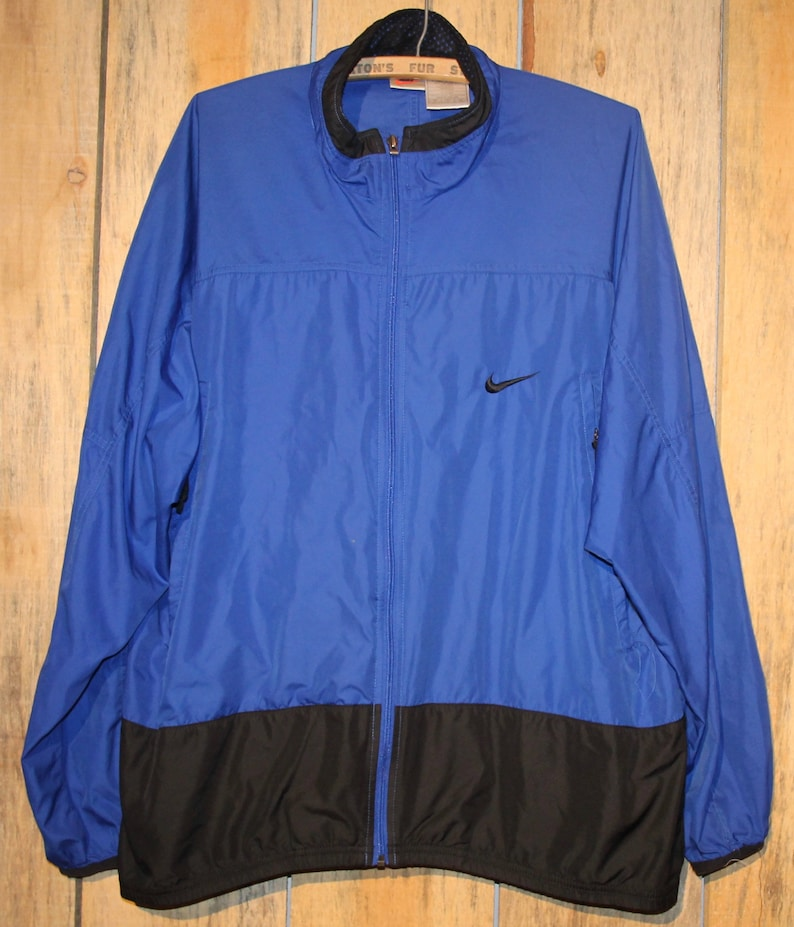 d17b01694e Vintage Nike Blue Light Zip Up Jacket Windbreaker Size XL