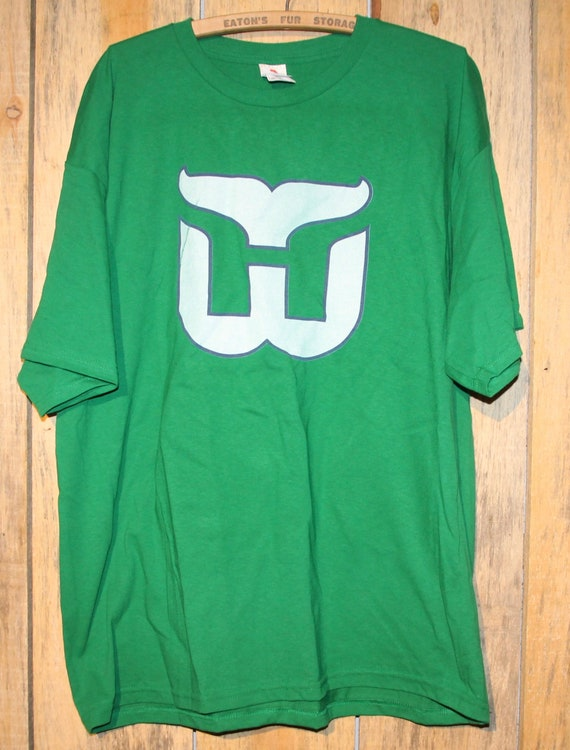 Vintage Hartford Whalers NHL Hockey Green T-Shirt Adult Size  5c46a28bd