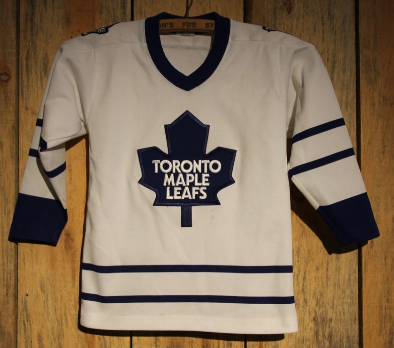 reputable site a1e51 a091a Vintage Youth Kids Toronto Maple Leafs Sewn Starter Hockey Jersey Size L +