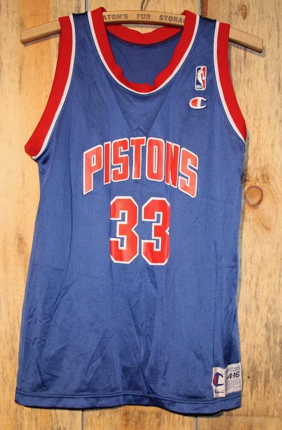 21dec0539 Vintage Detroit Pistons NBA Champion Basketball Jersey Grant