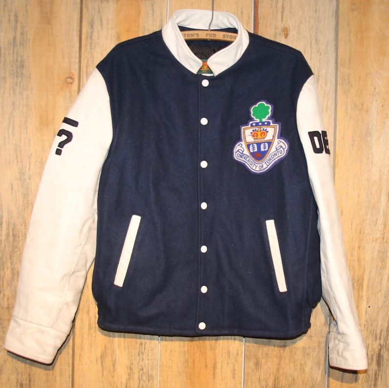 Unisex Varsity Jackets Toronto Maple Leafs Logo Fashion Button Front Cotton Bomber Baseball Jackets Mosulspace Org