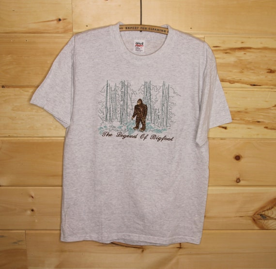 Vintage The Legend Of Bigfoot Fully Embroidered Si