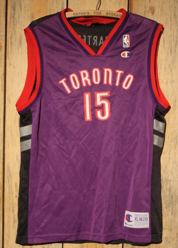 520472943 Vintage Toronto Raptors Vince Carter Champion Purple NBA Youth