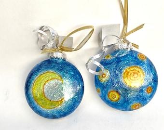 "Van Gogh, ""Starry Night"" Inspired, Fine Art Christmas Ball"