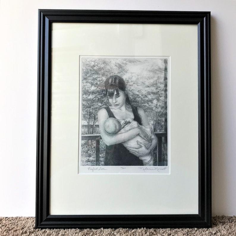 Perfect Lovedrypoint etchingprintmakingmother n child arta image 1