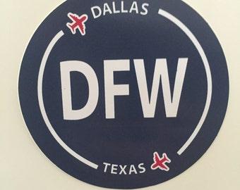 Dallas DFW Texas Souvenir Airport Sticker