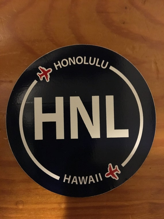 Honolulu airport stickers