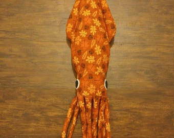 Autumn Leaf Squid Plush