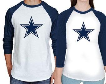 Dallas Cowboys Inspired Couples Raglan Shirts - Dallas Cowboys Matching  Baseball Shirts - His and Hers Custom Shirts 641feae95