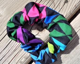 Scrunchie, Hair elastic, Hair accessory - Geometric