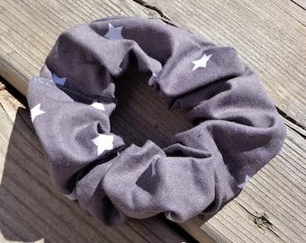 Scrunchie - Grey Star