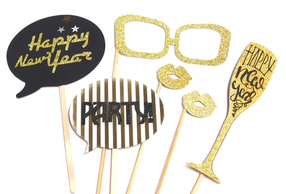 New Years Photo Booth Props