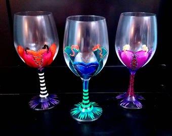 Hocus Pocus Halloween Elegant Wine Glass Set of 3