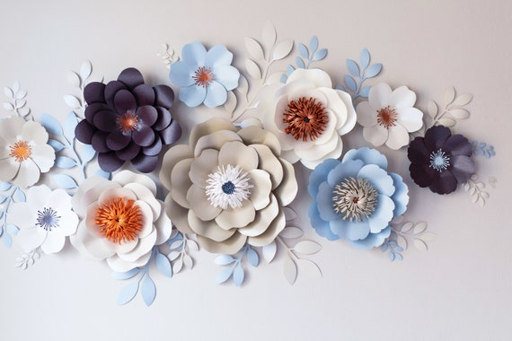 Wall flowers video course paper flower template paper etsy image 0 mightylinksfo