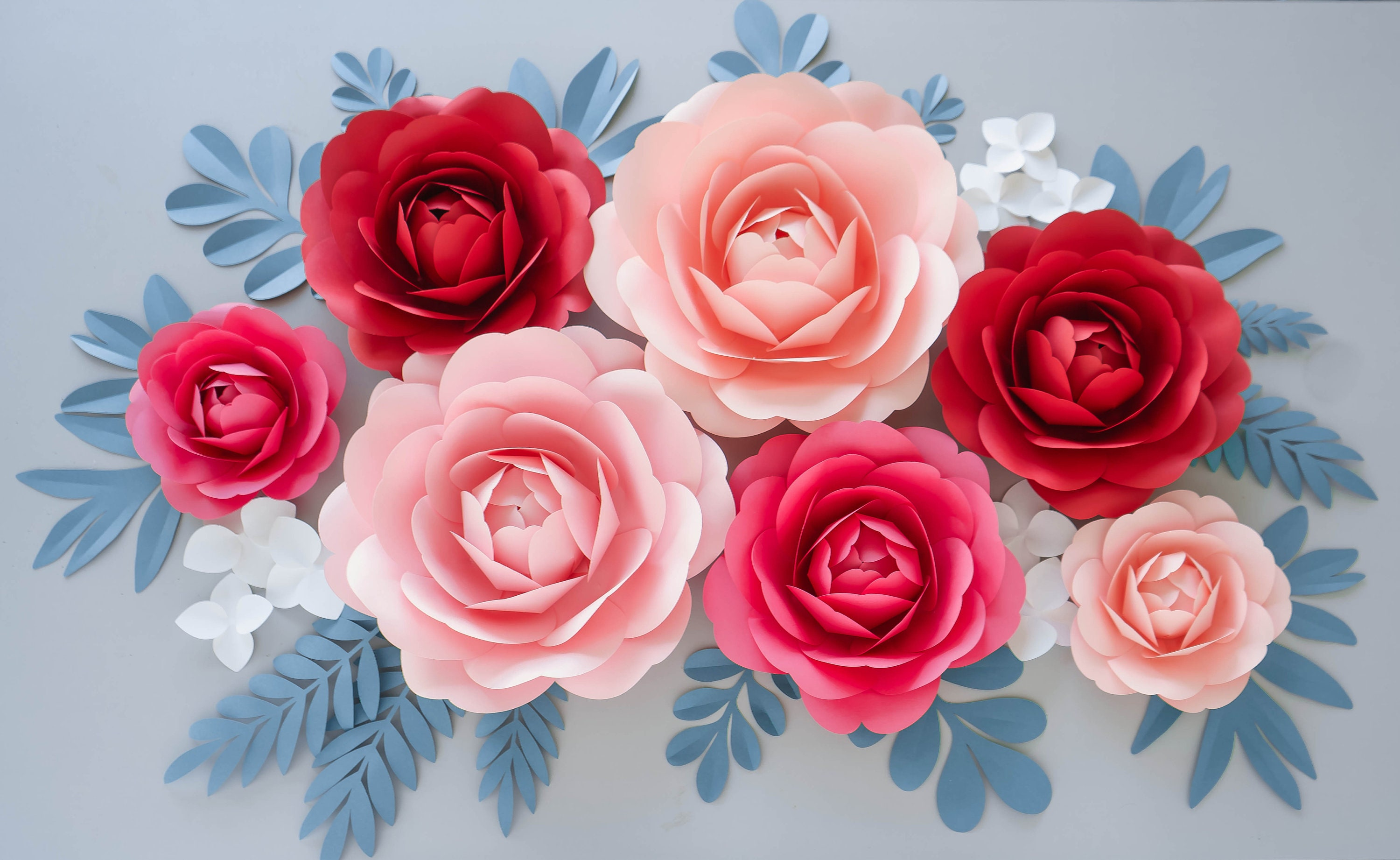 Paper Peonies Video Course Paper Flower Template Paper Etsy