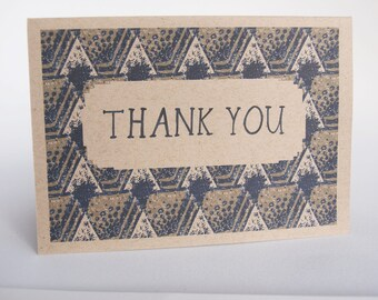 Greeting Card - Thank You Art Deco pattern