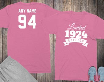 94th Birthday Gifts For Women Shirts 94 Year Old 1924 Shirt Her