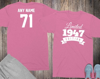 71st Birthday Gifts For Women Shirts 71 Year Old 1947 Shirt Her