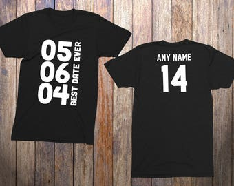 14 Year Old Birthday Shirt Best Date Ever Niece Nephew Son Daughter Custom Personalize Gift Youth You Pick The