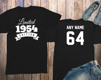64th Birthday Gifts For Men Shirts 64 Year Old 1954 Shirt Him