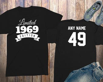 49th Birthday Gifts For Men Shirts 49 Year Old 1969 Shirt Him