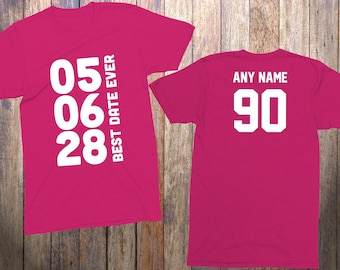 90th Birthday Gifts For Her 90 Year Old Him 1928 Shirt Best Date Ever Personalized Shirts Grandmother