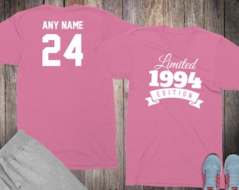 24th Birthday Gifts For Women Shirts 24 Year Old 1994 Shirt Her