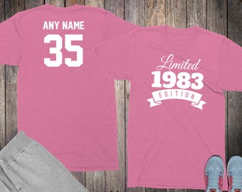35th Birthday Gifts For Women Shirts 35 Year Old 1983 Shirt Her