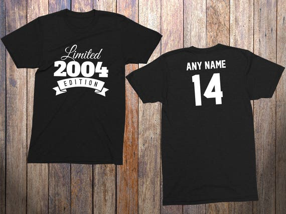 Items Similar To 14 Year Old Birthday Shirt Or Hoodie 2004 Kids Limited Edition 14th Youth Celebration On Etsy