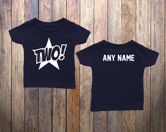 2 Year Old Birthday Shirt Gift for a 2 Year Old Toddler Cute Star 2 Year Old Tee Shirt Birthday Party 2 Year Old Boy Girl WT-003