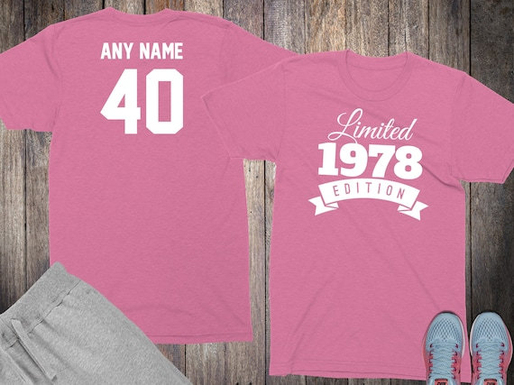 40th Birthday Gifts For Women Shirts 40 Year Old