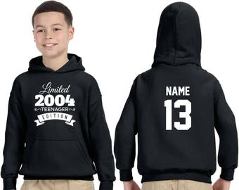 13 Year Old Birthday Hoodie Teenager Edition 2004 Kids Birthday Youth Hoodie Limited Edition 13th Birthday 13 Year Old Youth Celebration TTNJnSITY