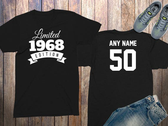 50th Birthday Gifts For Men Shirts 50 Year Old 1968 Shirt Him