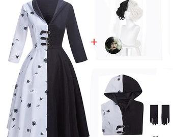 Cruella costume dress unisex cloth gift new costume dress