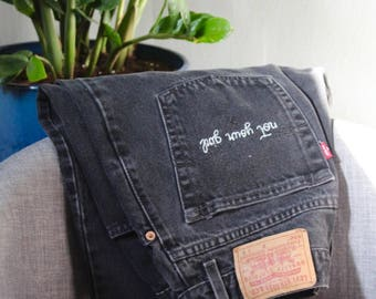 Vintage Levi's 'NOT YOUR GIRL'