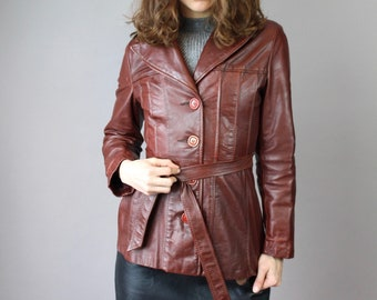 70's Leather Slim-Fit Jacket