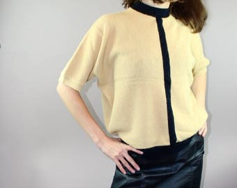 60's Vintage Wool High-Neck Sweater