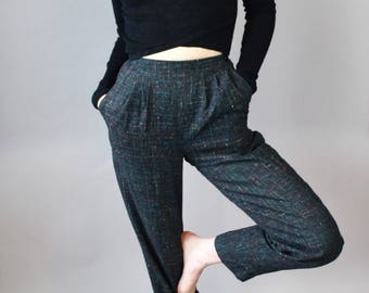 Vintage Rainbow Accent Tweed Pants