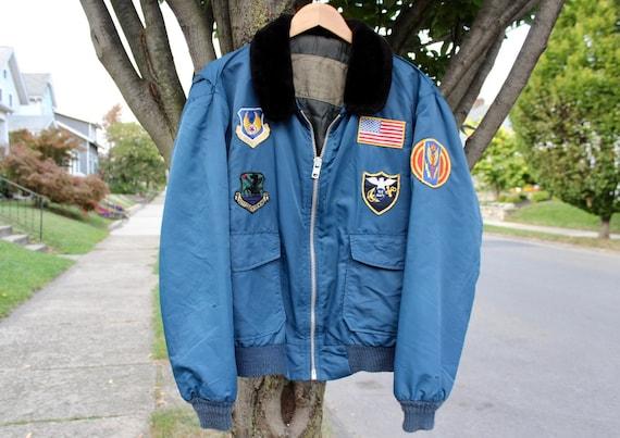 Vintage Bomber Jacket | Navy Jacket