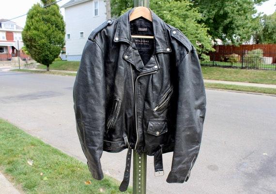 XL Men's Leather Moto Jacket